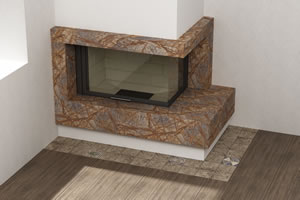 Granite Flooring and Fire Places