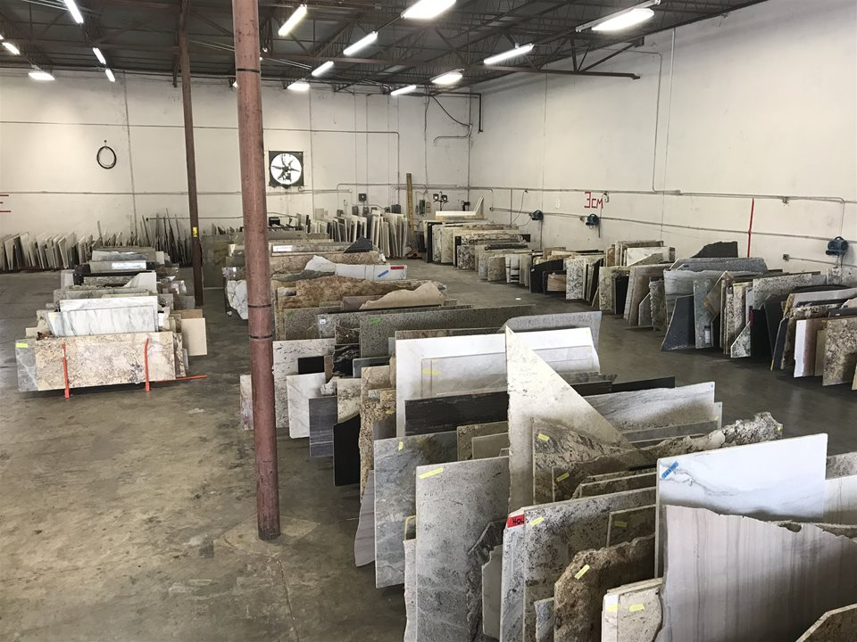 Granite and Quartz Remnants at Houston Warehouse